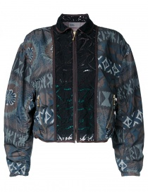 Womens jackets online: Kolor printed bomber jacket
