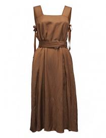 Rito brown sleeveless dress