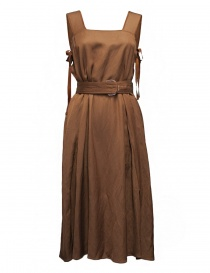 Rito caramel brown apron dress 0777RTS014A DRESS BROWN order online