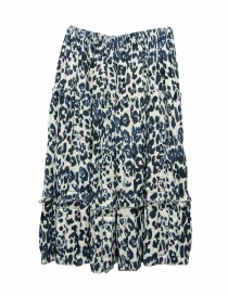 Sara Lanzi blue speckled skirt 05GCO04018P ANIMBLU