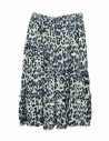 Sara Lanzi blue speckled skirt buy online 05GC004018P-ANIMBLU
