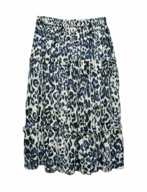 Sara Lanzi blue speckled skirt buy online