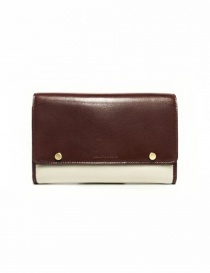 Beautiful People cream and brown leather wallet 1635511925-BROWN order online