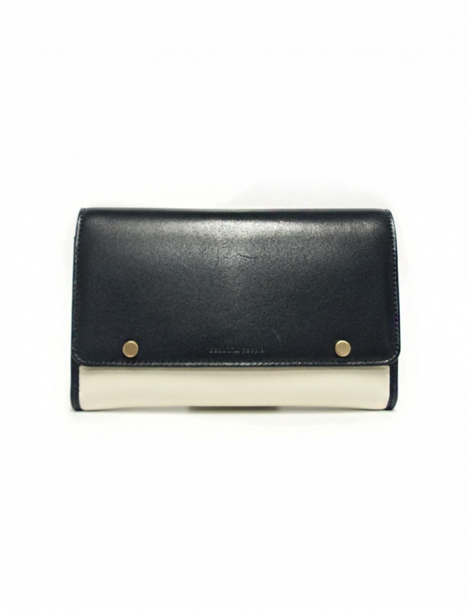 Beautiful People cream and navy leather wallet