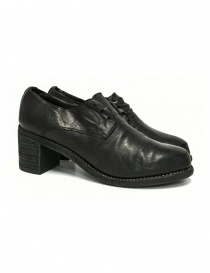 Womens shoes online: Black leather Guidi M82 shoes