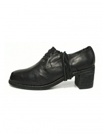 Black leather Guidi M82 shoes buy online