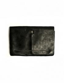 Portafoglio Guidi EN02 in pelle nera acquista online