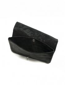 Portafoglio Guidi EN02 in pelle nera portafogli acquista online