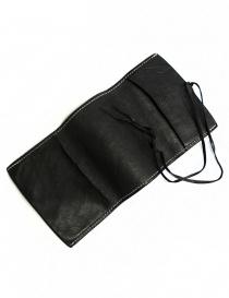 Porta tabacco Guidi TBC01 in pelle nera gadget acquista online