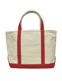 L.L. Bean red finishing tote bag