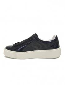 Sneaker Puma Basket Platform Patent blu lucido acquista online