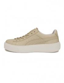 Sneaker Basket Platform Patent colore panna acquista online