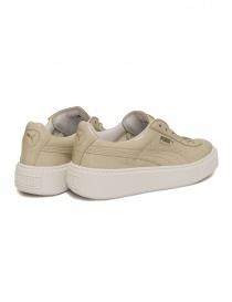 Sneaker Basket Platform Patent colore panna prezzo
