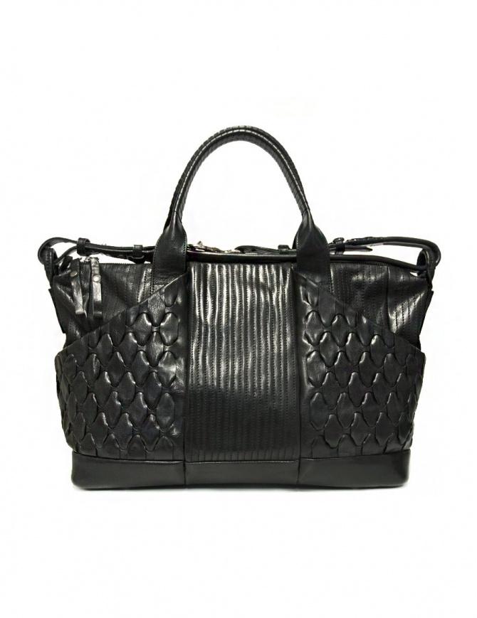 Cornelian Taurus by Daisuke Iwanaga black leather bag