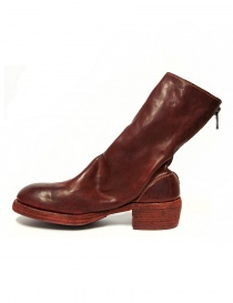 Red leather Guidi 788Z ankle boots buy online