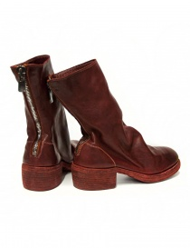 Red leather Guidi 788Z ankle boots price