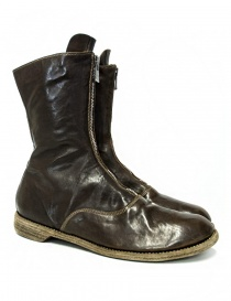 Stivaletto Guidi 310 in pelle verde/marrone 310-HORSE-ARMY-BOOTS