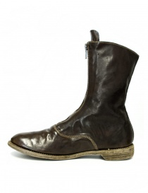 Green/brown leather Guidi 310 ankle boots
