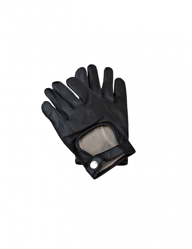Black leather Golden Goose gant G19U551.A1 BLK gloves online shopping