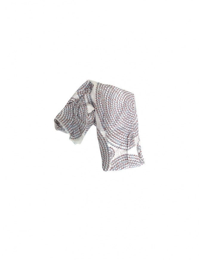 Julien David scarf in white NHK-227-WM-W