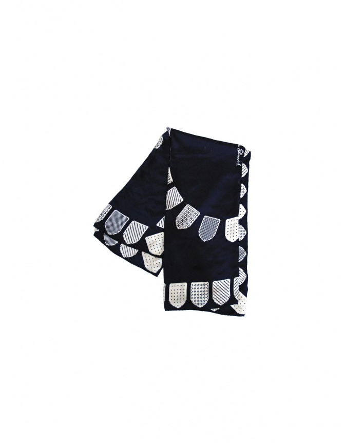 Julien David foulard in navy CHK-238-NW-S scarves online shopping