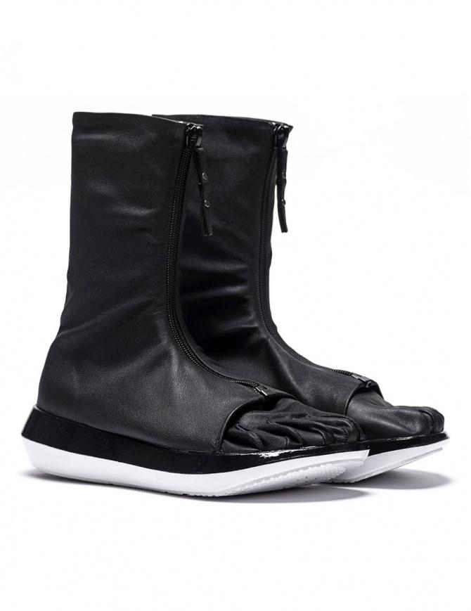 Stivaletto Arthur Arbesser per Vibram modello Damiel colore nero/bianco A17A103-ZIP-BLK-BLK-WHITE calzature donna online shopping