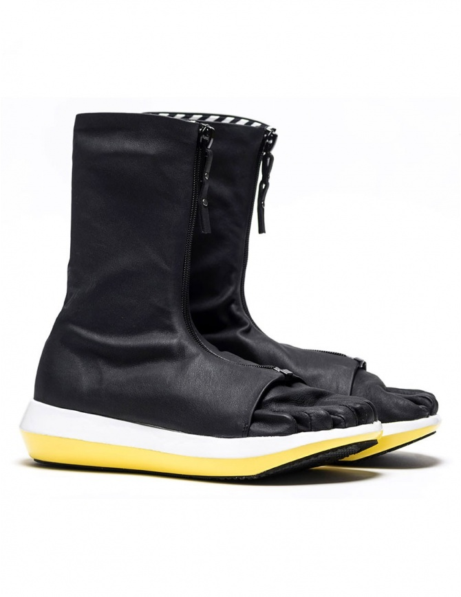 Arthur Arbesser for Vibram ankle boots style Damiel black/yellow color A17A102-ZIP-BLK-WHITE-YEL womens shoes online shopping