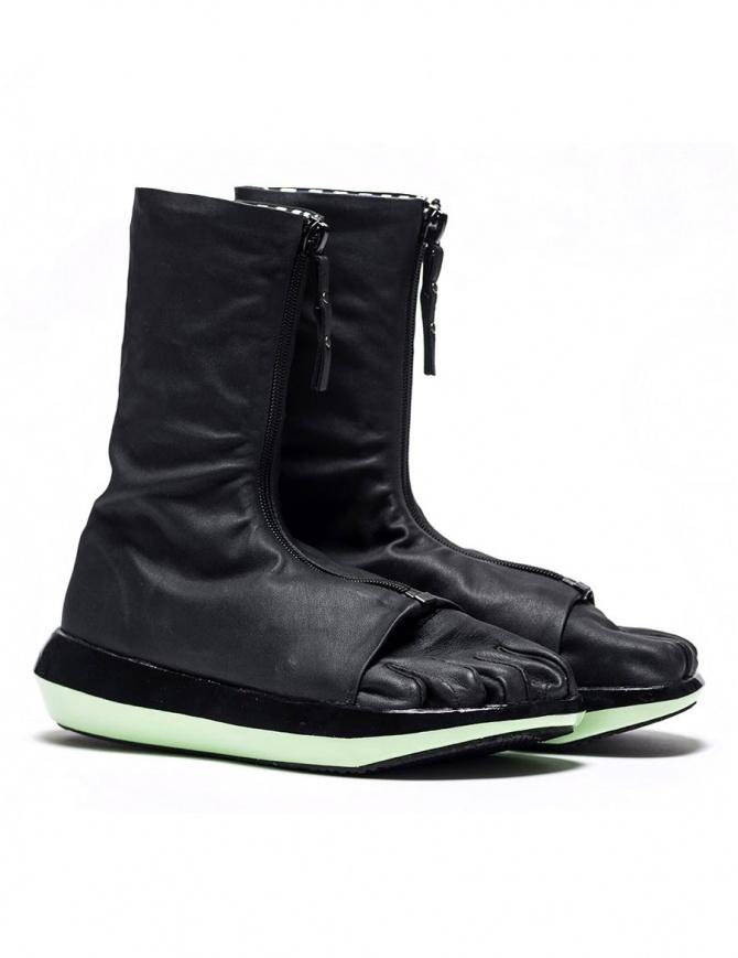 Stivaletto Arthur Arbesser per Vibram modello Damiel colore nero/menta A17A101-ZIP-BLK-BLK-MINT calzature donna online shopping