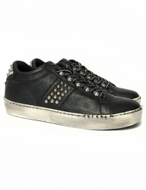 Leather Crown Iconic women's black sneakers WICONIC 14 NERO STR