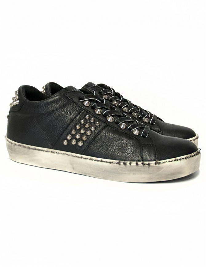 Leather Crown Iconic women's black sneakers WICONIC 14 NERO STR womens shoes online shopping