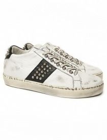 Sneakers Leather Crown Iconic bianca/nera da donna WICONIC 16 BIANCO NERO