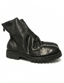 Mens shoes online: Guidi 796V black baby calf leather ankle boots