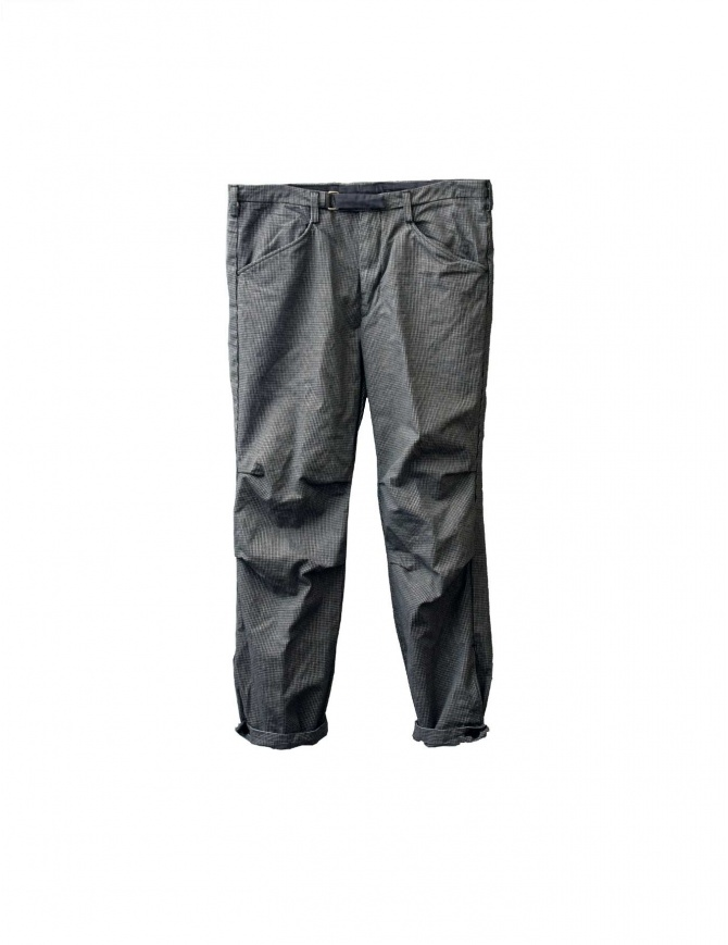 Kolor Chino grey cotton houndstooth trousers P05106 A mens trousers online shopping