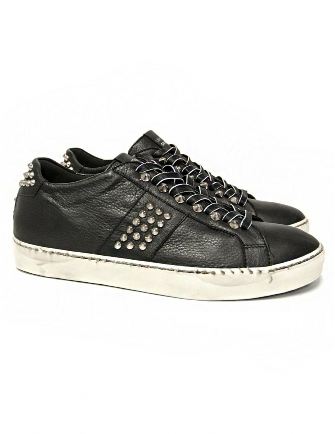 Leather Crown Iconic men's black sneakers MICONIC 14 NERO STR mens shoes online shopping