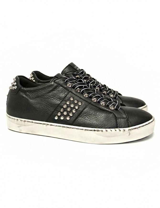Sneakers Leather Crown Iconic nera da uomo MICONIC 14 NERO STR calzature uomo online shopping