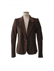 Kolor brown velvet pied de poule suit online