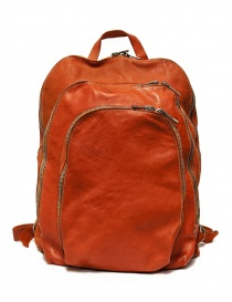 Guidi DBP04 orange leather backpack online