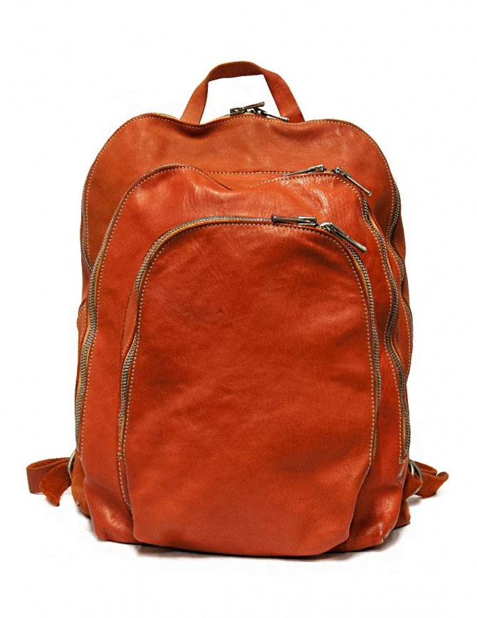 Guidi DBP04 orange leather backpack DBP04 SOFT HORSE B.PACK CV21T bags online shopping