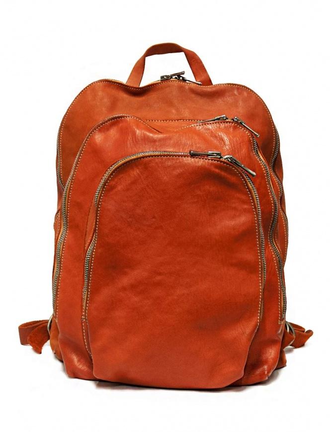 Zaino Guidi DBP04 in pelle colore arancione DBP04-SOFT-HORSE-CV21T borse online shopping