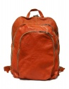 Guidi DBP04 orange leather backpack buy online DBP04 SOFT HORSE B.PACK CV21T
