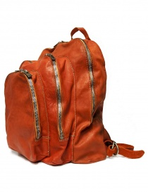 Guidi DBP04 orange leather backpack buy online