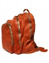 Guidi DBP04 orange leather backpack shop online bags