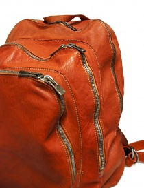 Guidi DBP04 orange leather backpack bags buy online