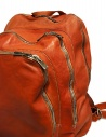 Guidi DBP04 orange leather backpack DBP04 SOFT HORSE B.PACK CV21T buy online