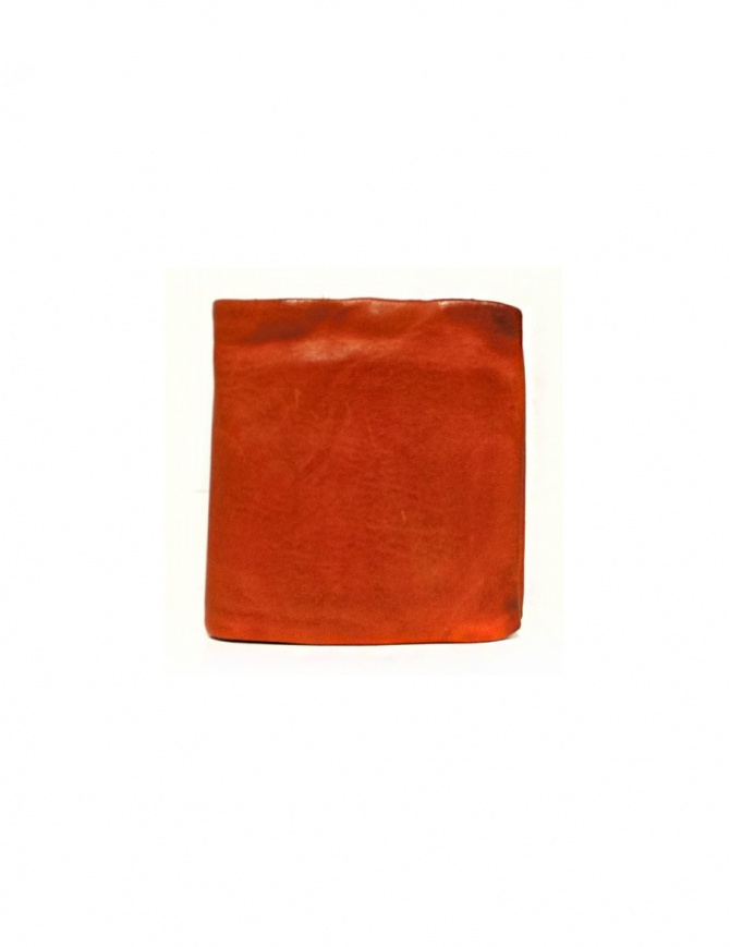 Portafoglio Guidi + Barny Nakhle B7 in pelle arancione B7-SOFT-HORSE-FG-WAL portafogli online shopping