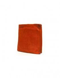 Portafoglio Guidi + Barny Nakhle B7 in pelle arancione acquista online