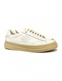 Be Positive Anniversary white and beige sneakers 7FWOARIA02-LEA-WBE order online
