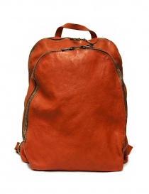 Guidi DBP06 orange leather backpack DBP06-SOFT-HORSE--CV21T