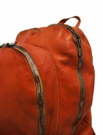 Guidi DBP06 orange leather backpack bags buy online