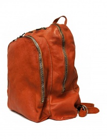 Guidi DBP06 orange leather backpack buy online
